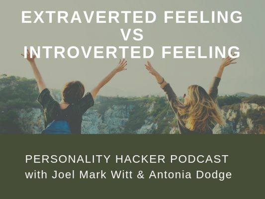 In this episode, Joel and Antonia talk the difference between the feeling cognitive functions Extraverted Feeling vs Introverted Feeling. #MBTI #myersbriggs #feeling