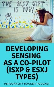 In this episode, Joel and Antonia talk about developing sensing as an ISFP, ISTP, ESFJ, or ESTJ. #podcast #MBTI #ESTJ #ESFJ #ISFP #ISTP #myersbriggs