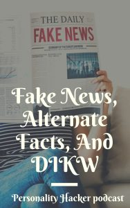 In this episode Joel and Antonia talk about the DIKW model (data, information, knowledge, wisdom) and how to apply it to today's media landscape of alternative facts and fake news.