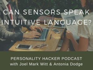 "In previous episodes, we talked about Intuitives being ""bilingual"" and speaking Sensor language. In this episode Joel and Antonia talk about whether or not Sensors can also be ""bilingual"" with Intuitive language. #podcast #sensors #intuitives #MBTI"