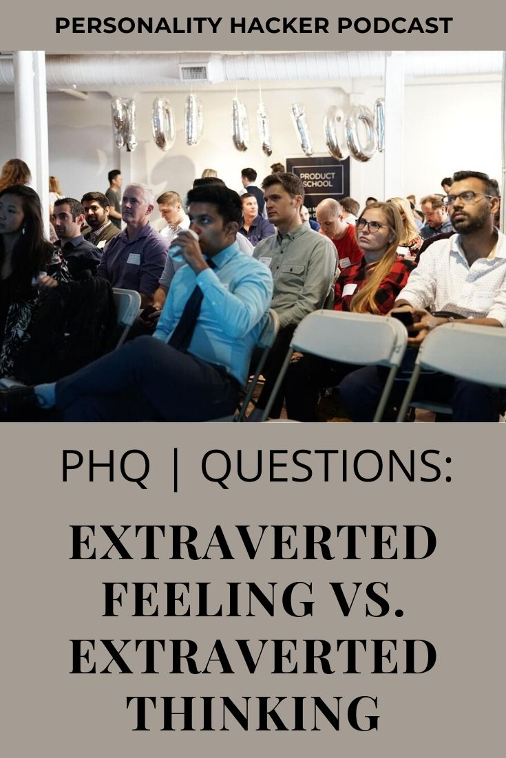 "In this episode, Joel and Antonia talk about the difference between Extraverted Feeling (""Harmony"") and Extraverted Thinking (""Effectiveness""). #extravertedthinking #extravertedfeeling"