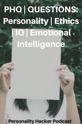 In this episode Joel and Antonia answer a question about personality types – ethics – IQ – and Emotional Intelligence. #IQ #EQ #ethics