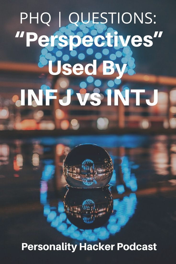 "In this episode, Joel and Antonia answer a question about #Introverted #Intuition (""Perspectives"") being used by an #INFJ vs #INTJ."